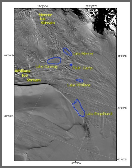map of whillans ice stream